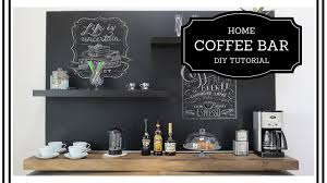 diy home coffee bar redesign a boring wall beginner level