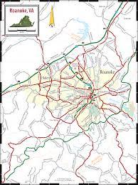 Back Road Maps Roanoke Va Map