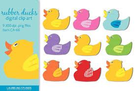 rubber duck clip art illustrations creative market