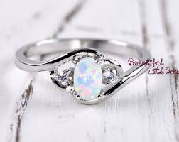 Promise Ring Engagement Ring And Wedding Ring Set by Opal Engagement Ring Etsy