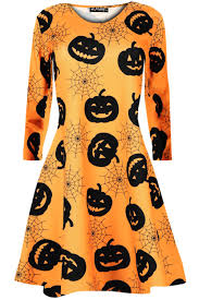 kids childrens halloween long sleeve pumpkin spider spooky