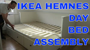 Hemnes Bed Frame Ikea Canada Ikea Hemnes Day Bed Frame With 3 Drawers Assembly Youtube