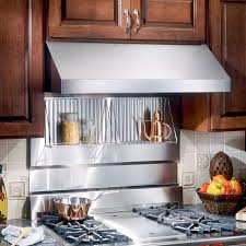 kitchen with stainless steel backsplash broan rmp4804 48 in rangemaster stainless steel backsplash