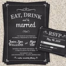 Eat Drink And Be Married Invitations 54 Best Invitation Stationary Ideas Images On Pinterest