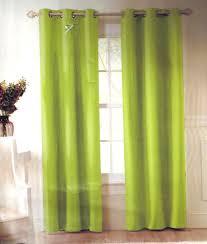 2 lime green solid grommet foam lined blackout window curtain