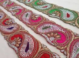 indian embroidered trims from india sari trims beaded trims