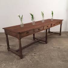 brown antique refectory table espace nord ouest