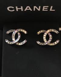 cc earrings chanel baguette cc earring id brand concept store