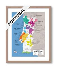 Tug Maps Detailed Wine Regions Of Portugal Map Wine Posters Wine Folly