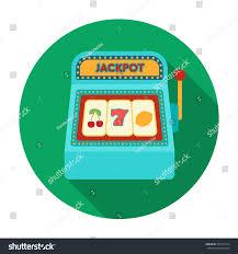 slot machine icon flat style isolated stock illustration 555371314