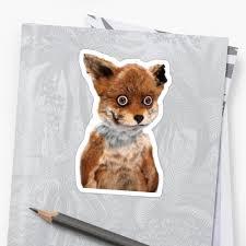Stoned Fox Meme - geoff stoned fox taxidermy meme adele morse stickers by adele morse
