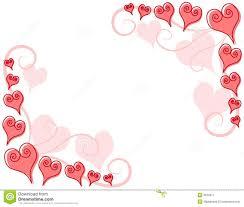 decorative vintage frames and borders set photo frame with corner decorative pink hearts corner borders stock image