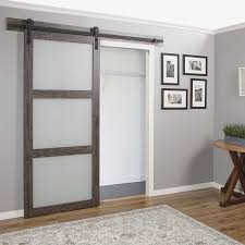 Lowes Interior Doors With Glass Awesome Lowes Interior Sliding Doors Shop Iron Aged Grey Frosted