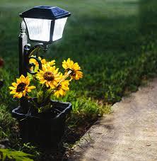gama sonic solar lights plantern solar path light with planter gs 111pl gamasonic solar
