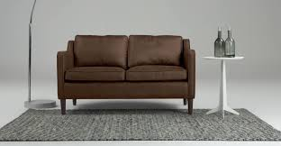 small two seater black leather sofa okaycreations net