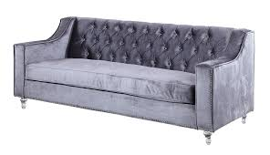 Grey Silver Sofa Amazon Com Iconic Home Dylan Modern Tufted Grey Velvet Sofa With