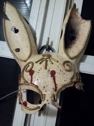 rabbit mask halloween my friend made this amazing splicer mask from scratch gaming