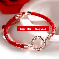 rose gold rope bracelet images Coise couple bracelets red black rope bracelets set rose gold jpg