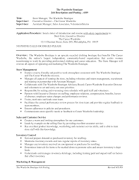Retail Manager Job Description For Resume by Sales Assistant Job Description Resume Resume For Your Job