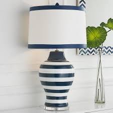 navy blue and white lamp shade 1575