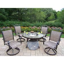 Stone Patio Images by Shop Oakland Living Stone Art 5 Piece Stone Dining Patio Dining