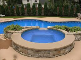 pool design inpiring pool and spa design with side circle jacuzzi