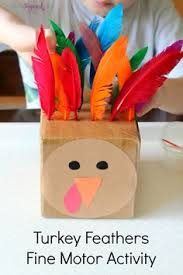 easy handprint thanksgiving napkin craft motor skills