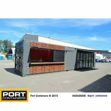 a 40ft shipping container cafe we designed and constructed