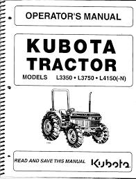 kubota l3350 l3750 l4150 tractor operator manual ebay