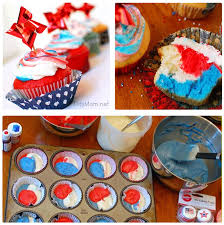 Red White And Blue Home Decor Red White And Blue Cupcakes