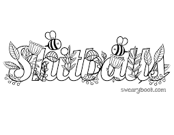 shitballs swear words coloring page from the sweary coloring