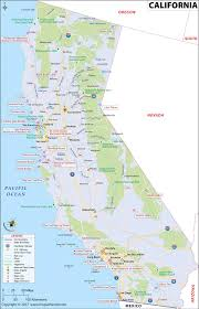 Map Of States With Capitals by California Map Map Of California Usa Ca Map