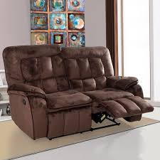 Recliner Sofa Evok Augusta Fabric Recliner Sofa 2 Seater Chocolate Rs 35995