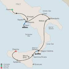 Map Of Capri Italy by Sicily And Southern Italy Tours Globus Italy Tours