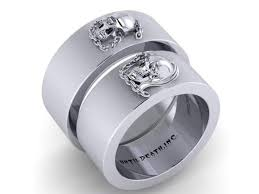 skull wedding rings men s skull wedding bands wedding rings for men until