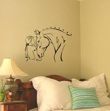 video game wall murals wall murals you ll love western poi riding game wall sticker with horse head