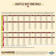 Metro Time Table Womadelaide
