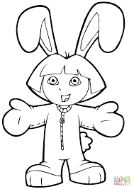 easter dora coloring page free printable coloring pages