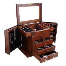 jewellery box rings images Large jewellery wooden gifts boxes white necklaces rings wood jpg