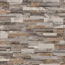 brick effect wallpaper 3d slate stone wall textured vinyl brown
