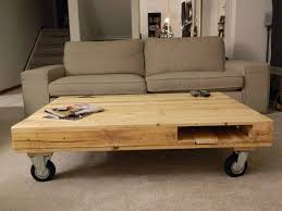 rustic coffee table with wheels decofurnish unfinished pine wood