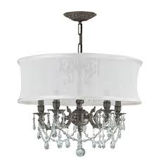 Chandelier With White Shade Antique White Chandeliers Bellacor