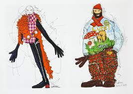 hippie van drawing walter van beirendonck design sketches walter has fashionary