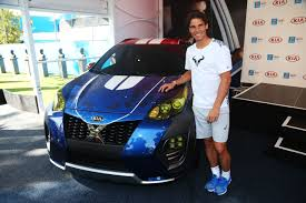 Kia Open Nadal Unveils Kia S Newest X Car At Australian Open Kia Buzz