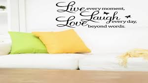meco vinyl decal live every moment laugh every day love beyond meco vinyl decal live every moment laugh every day love beyond words wall q youtube
