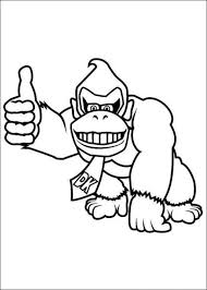 donkey kong pictures color free coloring pages art