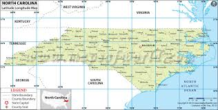 carolina latitude and longitude map