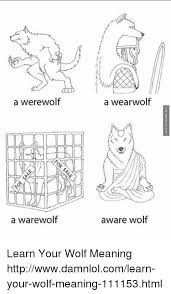 a a warewolf a wearwolf aware wolf learn your wolf