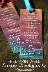 printable easter bookmarks to colour he is risen printable bookmarks hive resources