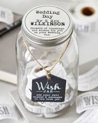 wedding wish jar personalised wish jar oxendales